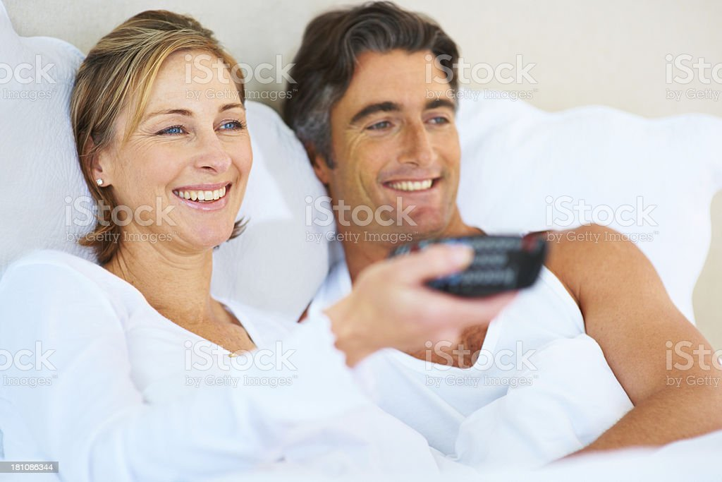 Let's watch a little TV stock photo