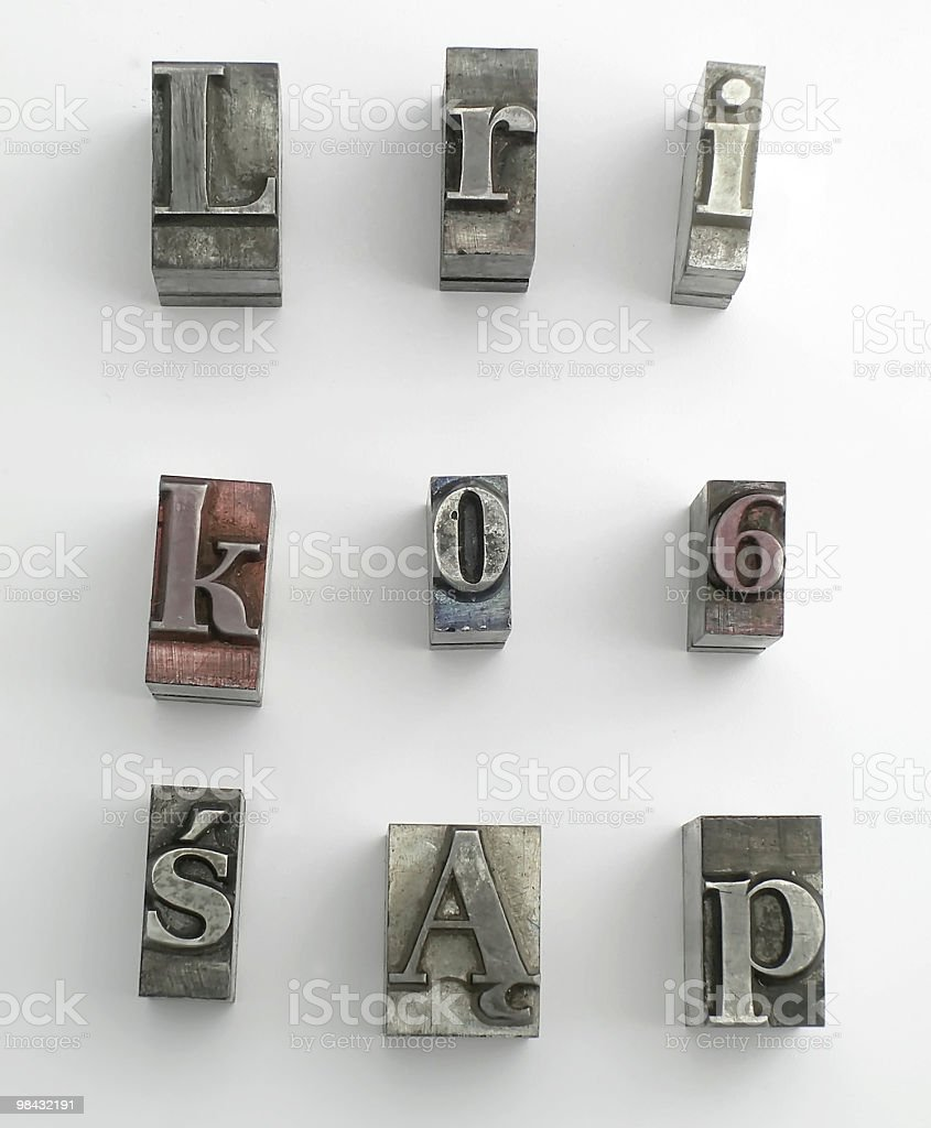 letter 8 royalty-free stock photo