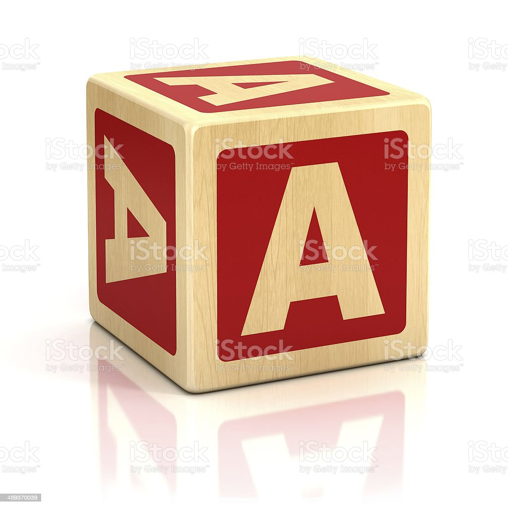 letter A alphabet cubes font stock photo