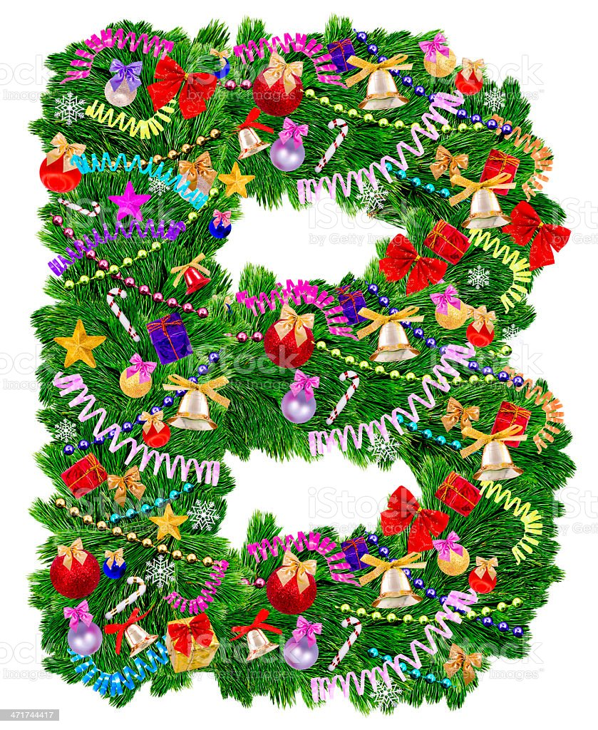Letter A. Christmas tree decoration royalty-free stock photo