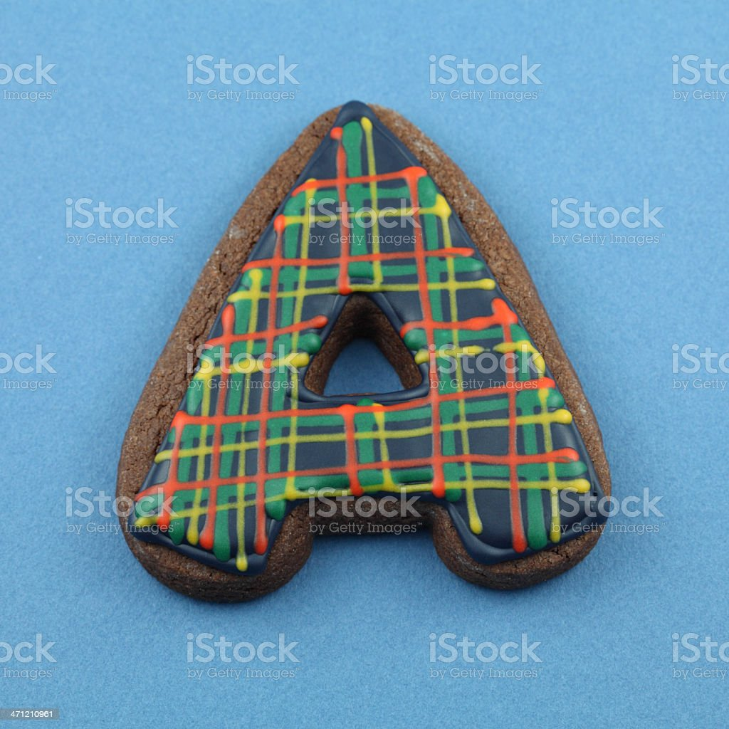 Letter A Cookie royalty-free stock photo
