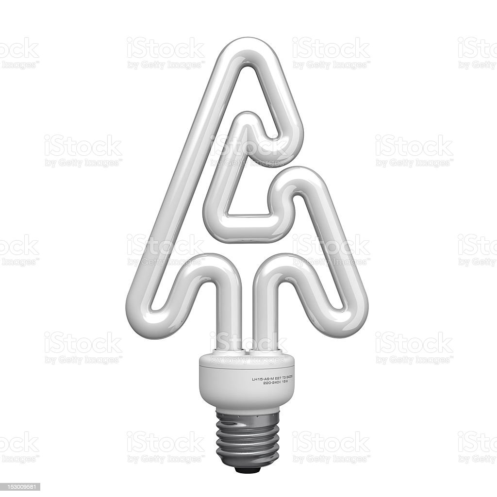 Letter A from lamp alphabet royalty-free stock photo