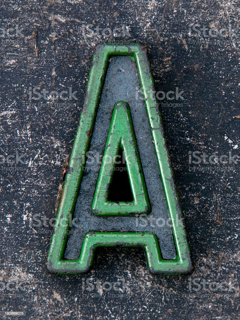 letter a green royalty-free stock photo