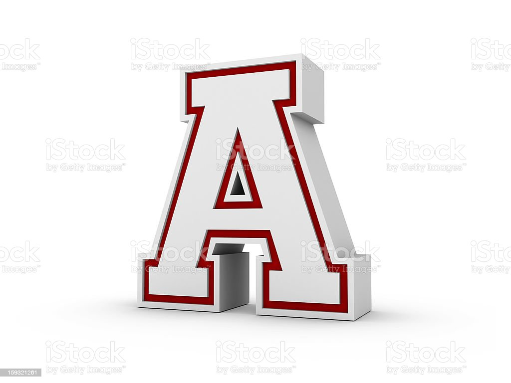 Letter A in School Style royalty-free stock photo