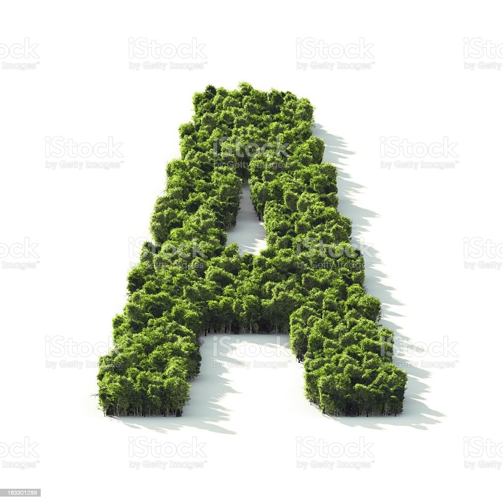 Letter A : Perspective View royalty-free stock photo