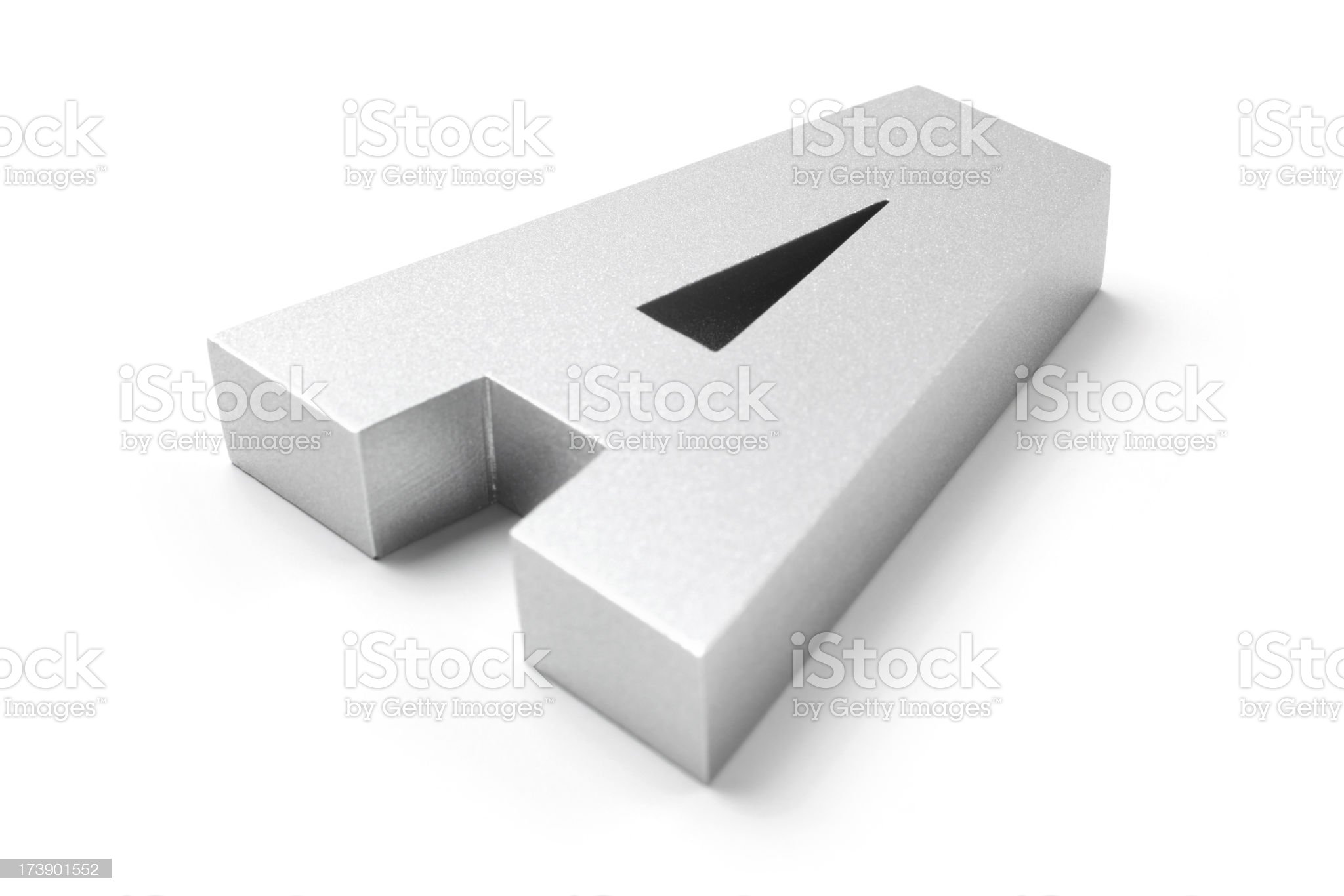 Letter A royalty-free stock photo