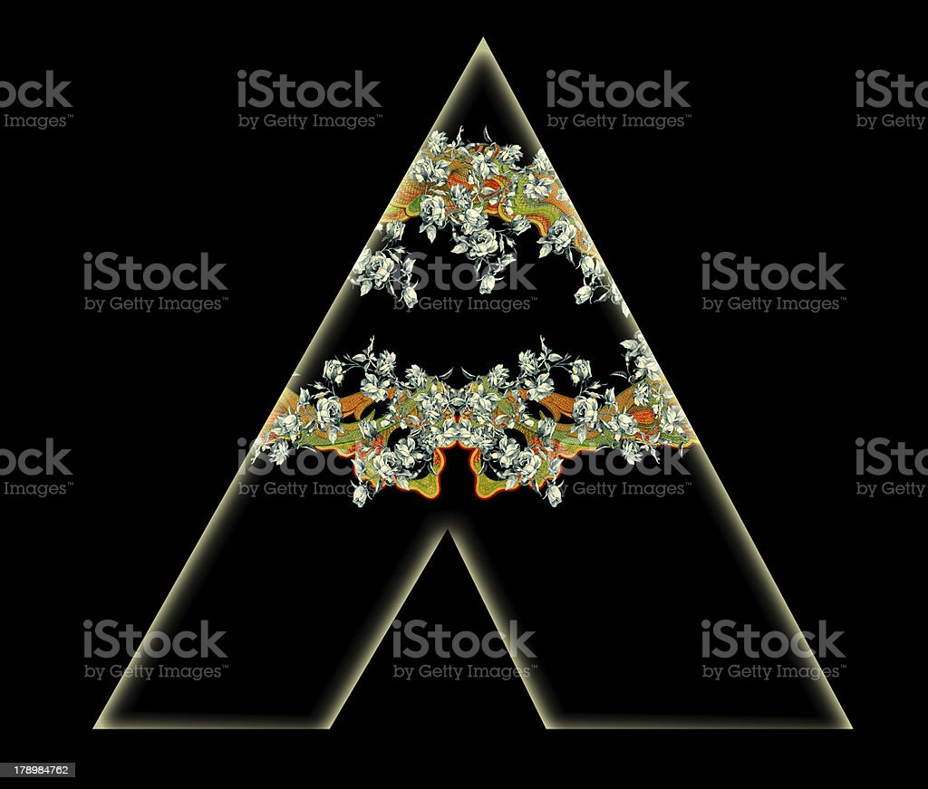 Letter A. royalty-free stock photo