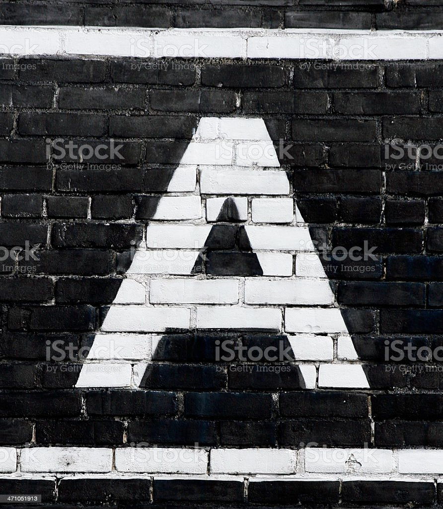 Letter 'A' stock photo