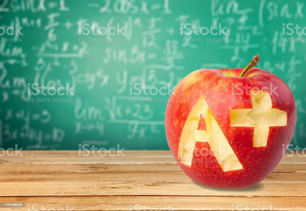 Letter A, Report Card, Test Results stock photo