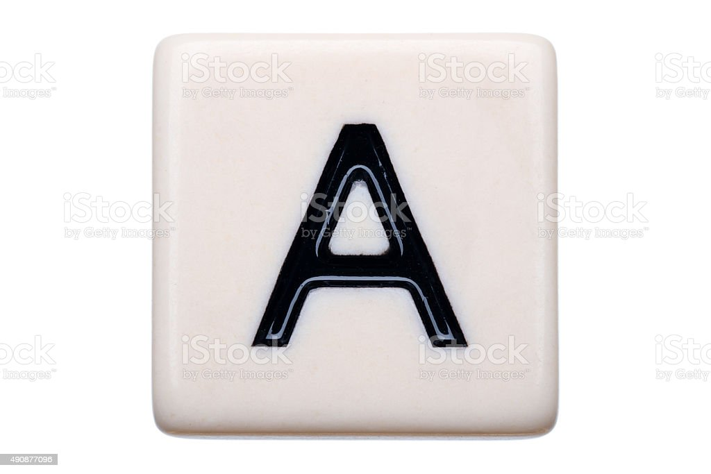 Letter A Tile stock photo