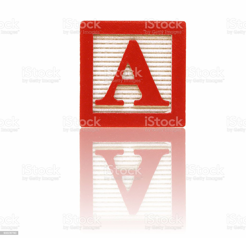 letter a - toy block series royalty-free stock photo