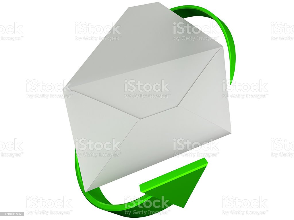 Letter and arrow royalty-free stock photo
