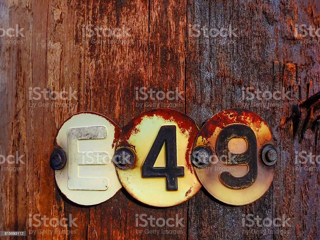 letter and numbers stock photo