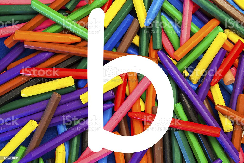 letter b - alphabet, education / schools. royalty-free stock photo