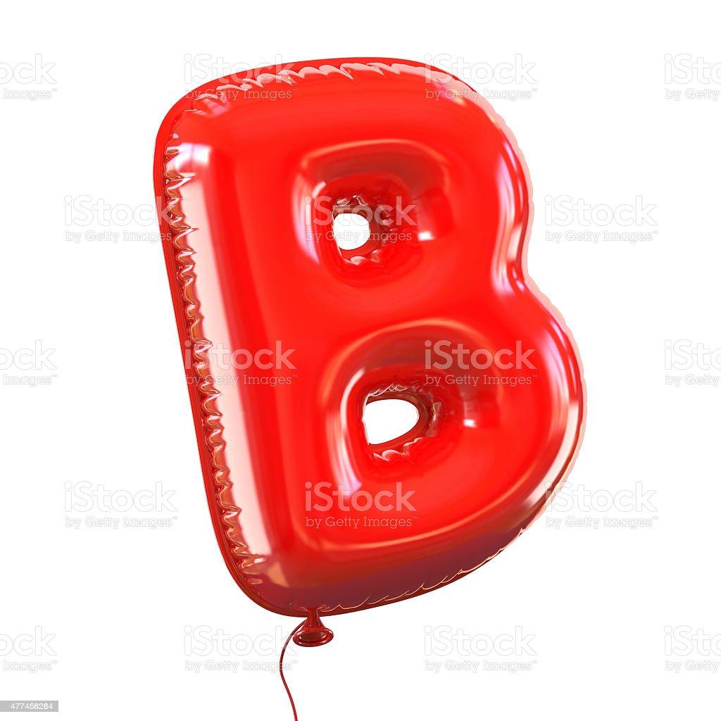 Letter B balloon font stock photo