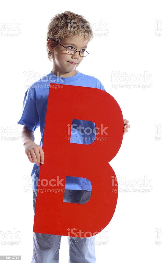 Letter 'B' boy royalty-free stock photo