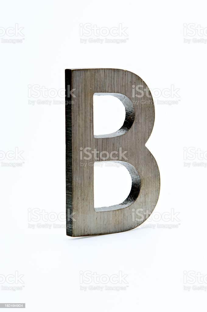 Letter B Made of Brass royalty-free stock photo