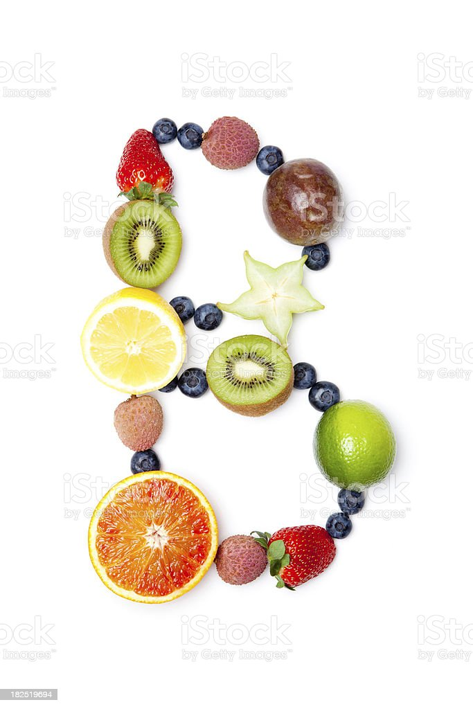 Letter B made of fruit royalty-free stock photo