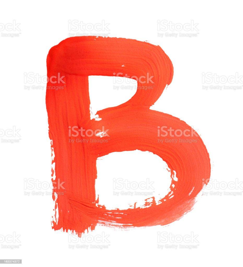 letter B stock photo