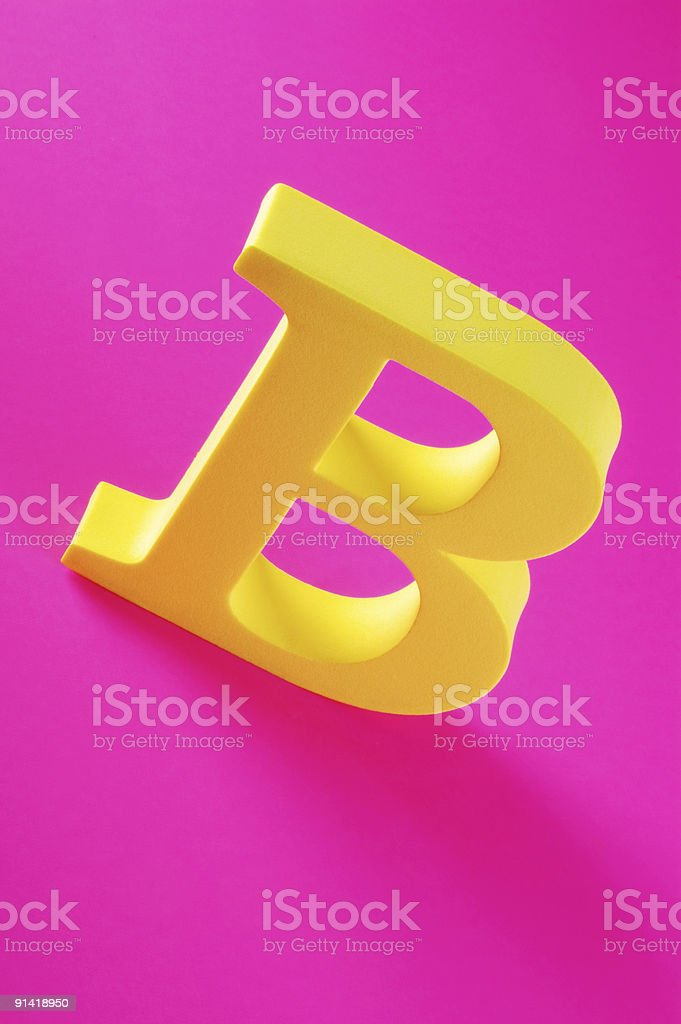 Letter B royalty-free stock photo