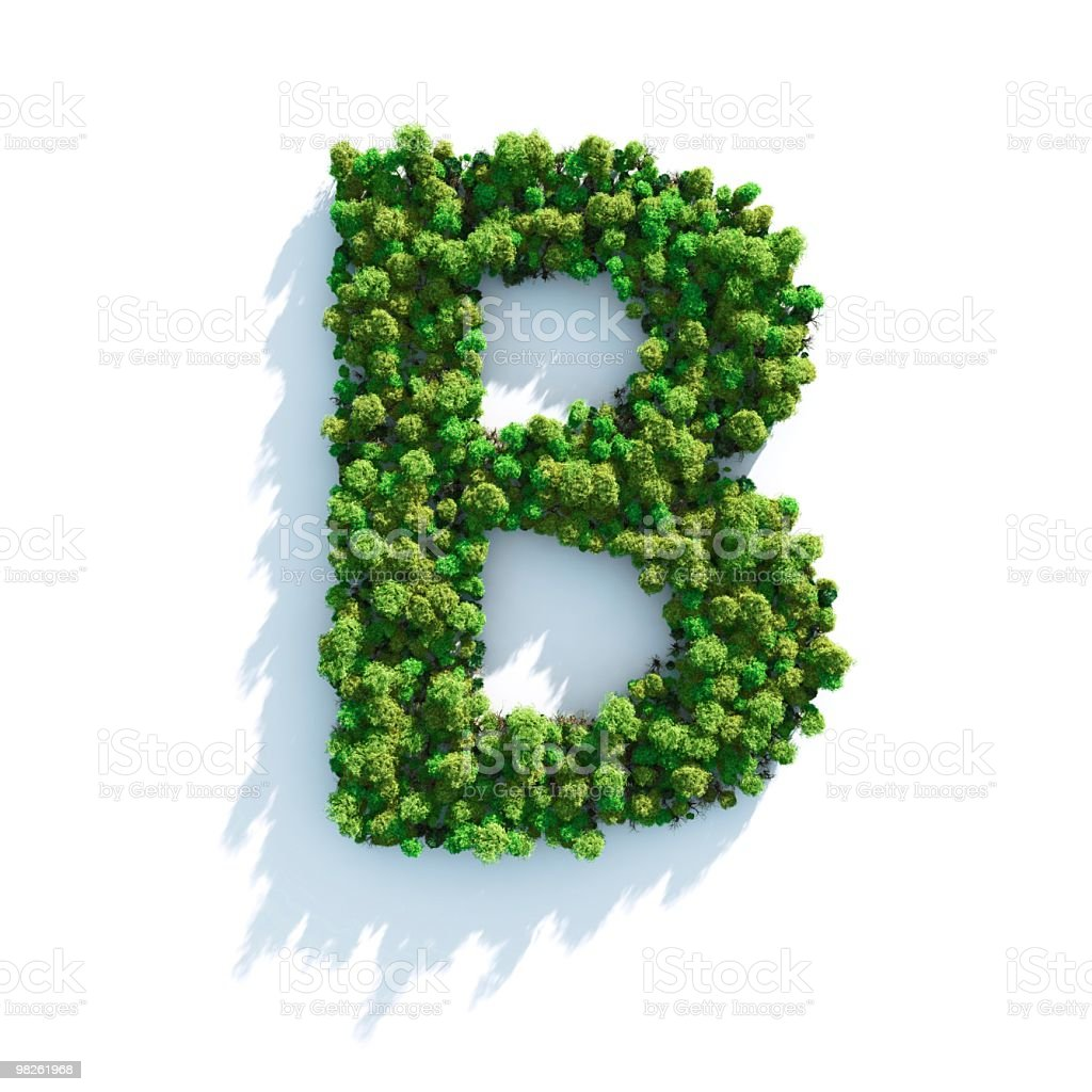 Letter B: Top View royalty-free stock photo
