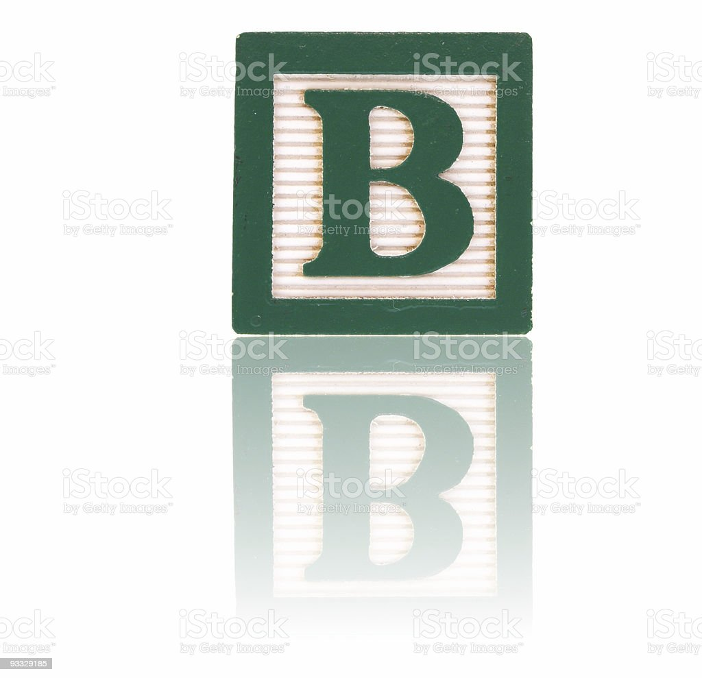 letter b -  toy block series royalty-free stock photo