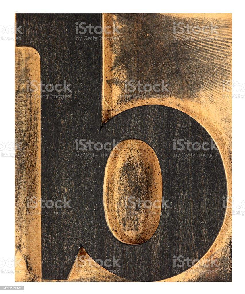 Letter 'b', XXL royalty-free stock photo