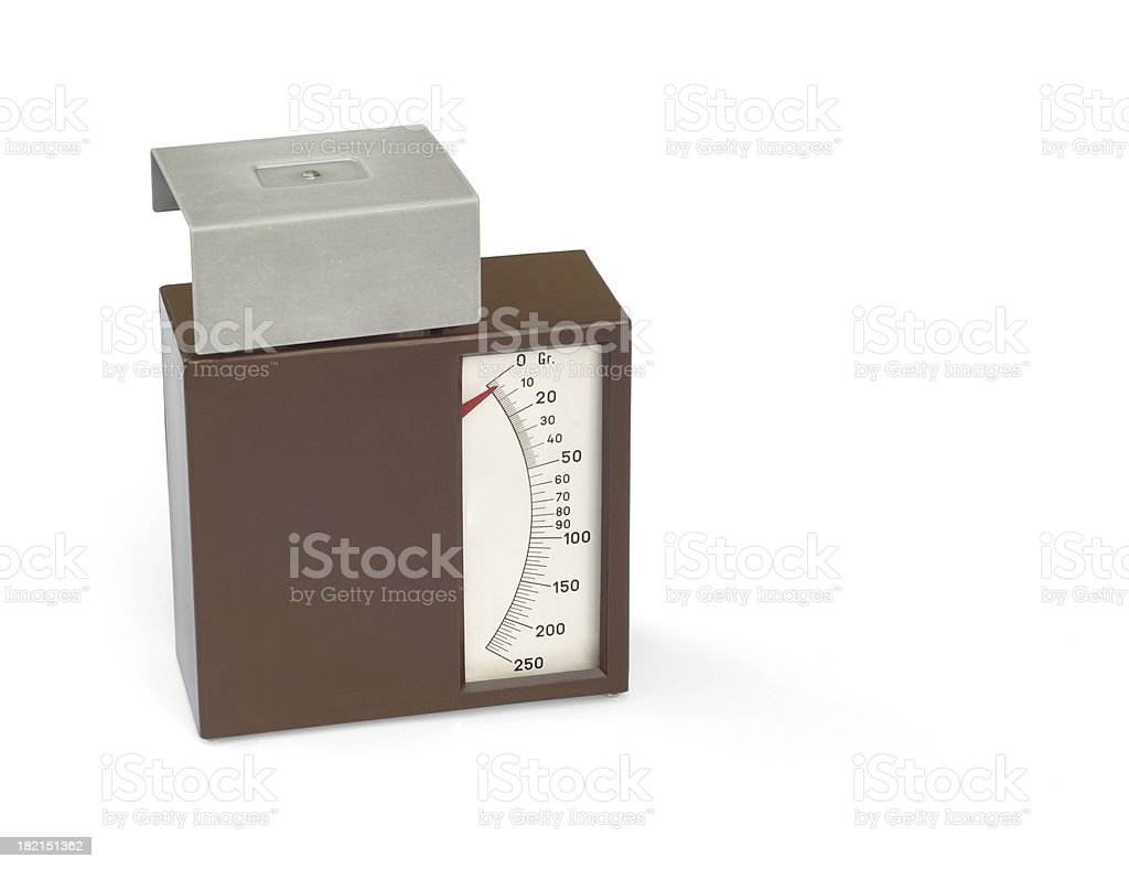 Letter Balance (path included) royalty-free stock photo