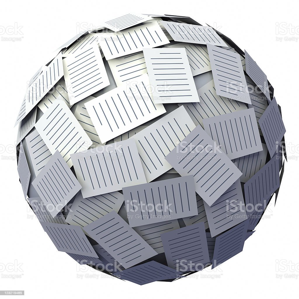 Letter ball. royalty-free stock photo