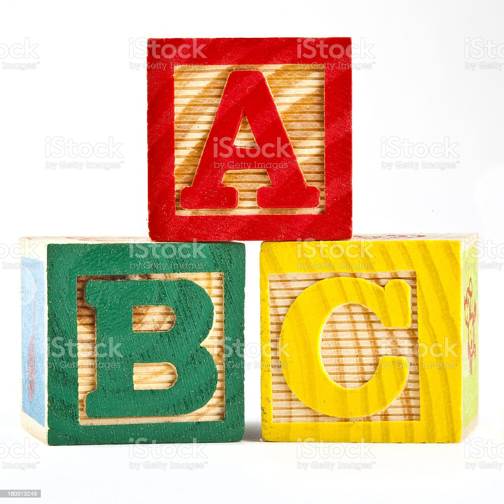 Letter Blocks (A,B,C) royalty-free stock photo