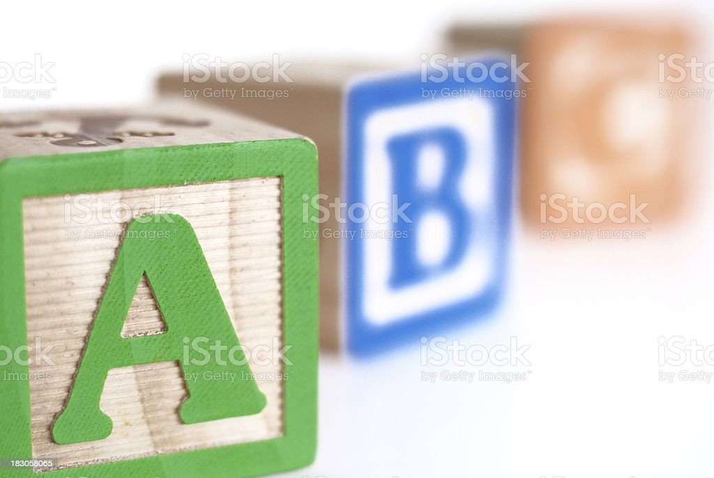 Letter Blocks royalty-free stock photo