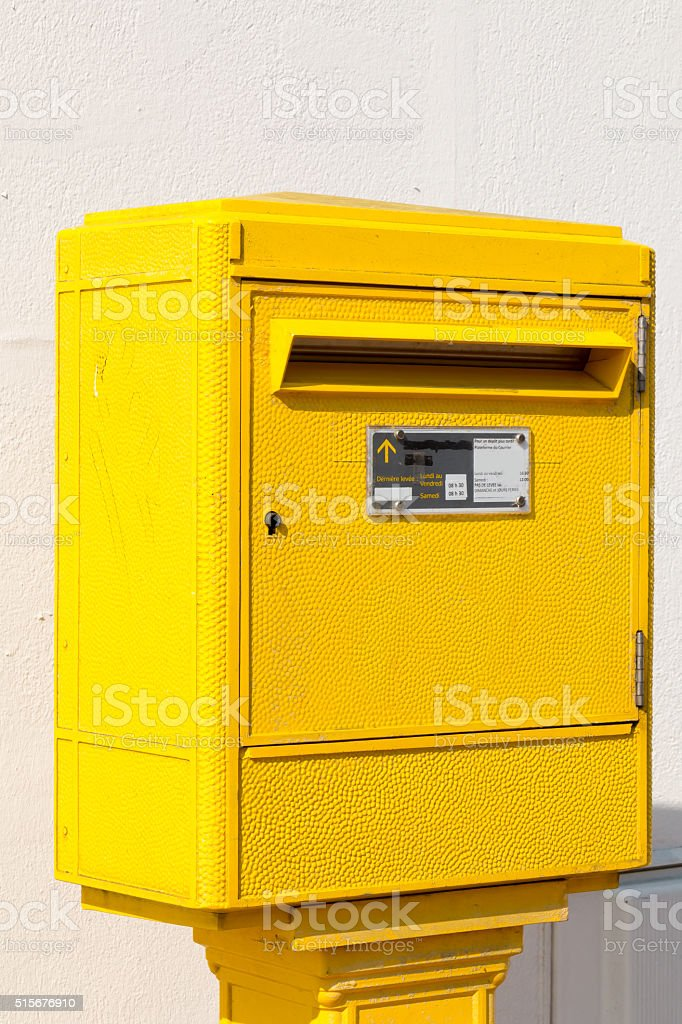 Letter Box in the street stock photo