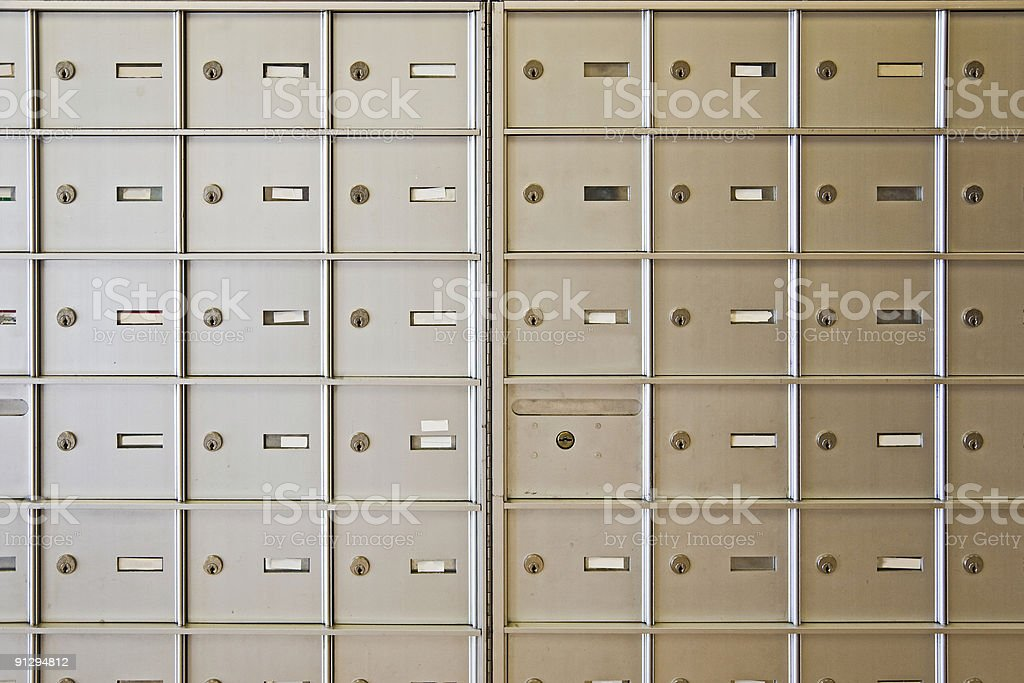 Letter boxes royalty-free stock photo