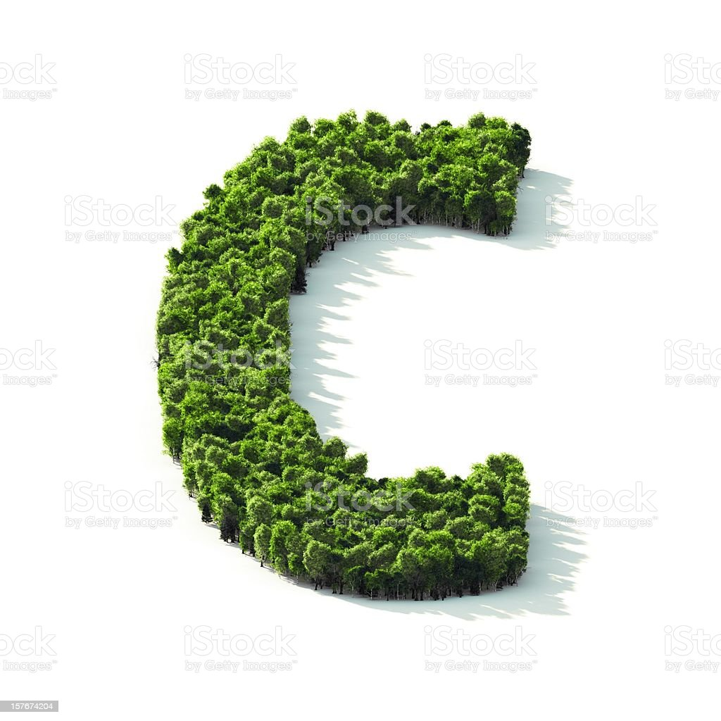 Letter C : Perspective View stock photo
