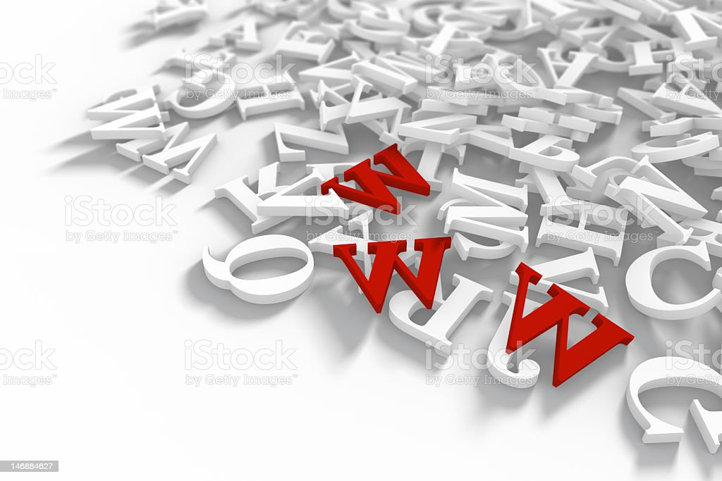 Letter chaos royalty-free stock photo