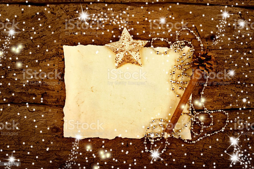 Letter Christmas greetind card stock photo