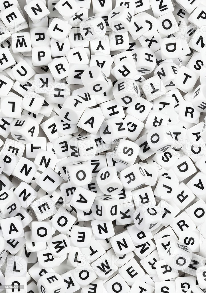 Letter cube pattern background stock photo