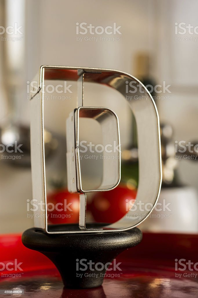 Letter D kitchen alphabet royalty-free stock photo