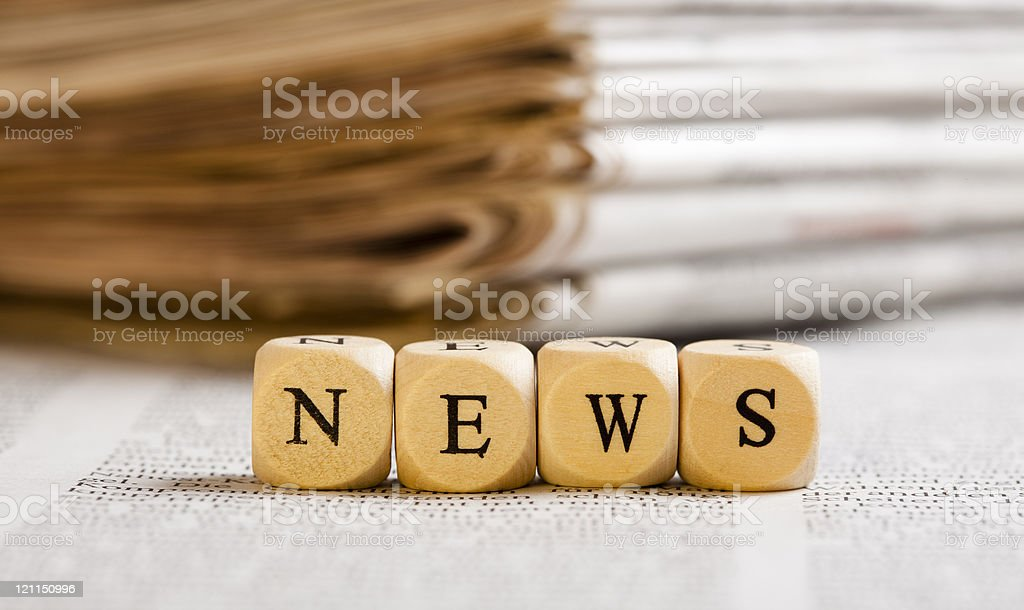 Letter Dices Concept: News royalty-free stock photo