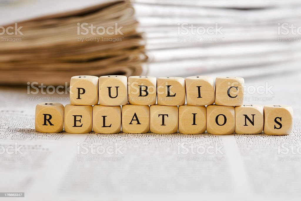 Letter Dices Concept: Public Relations royalty-free stock photo