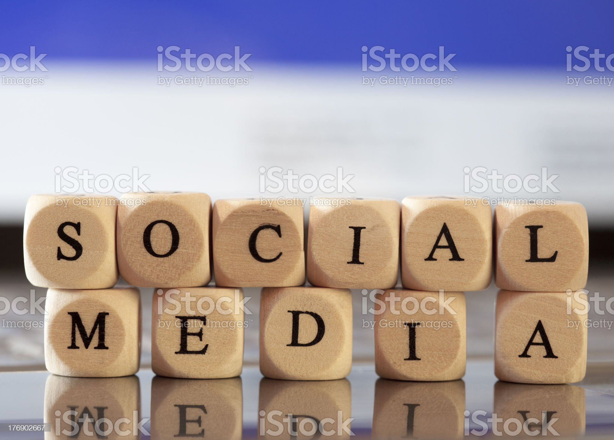Letter Dices Concept: Social Media royalty-free stock photo