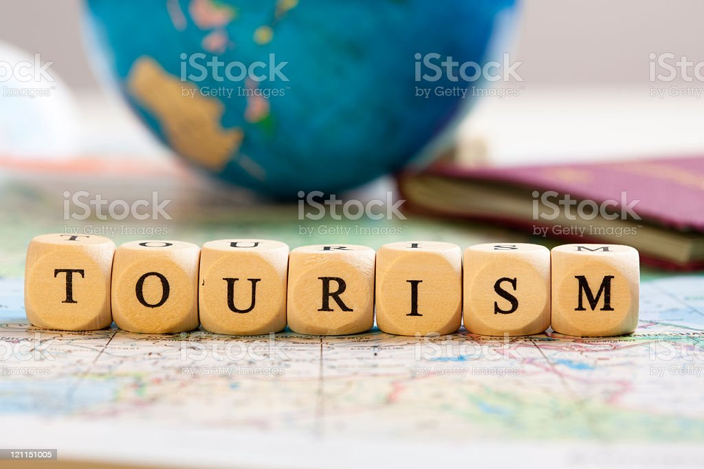 Letter Dices Concept: Tourism royalty-free stock photo