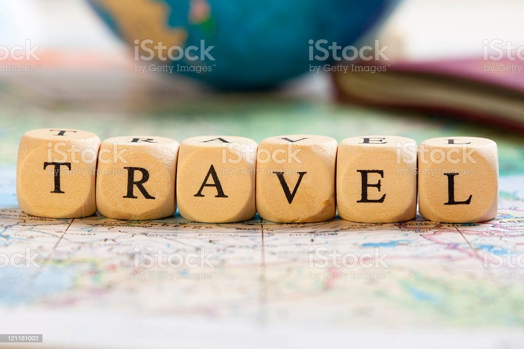 Letter Dices Concept: Travel royalty-free stock photo