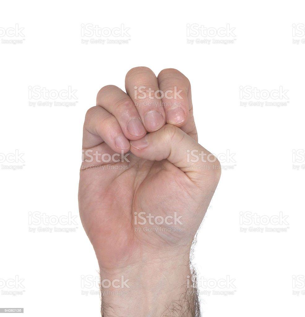 ASL Letter E royalty-free stock photo