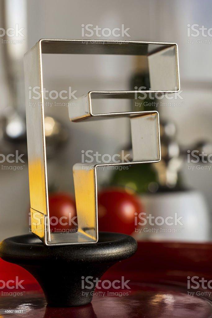 Letter F kitchen alphabet royalty-free stock photo