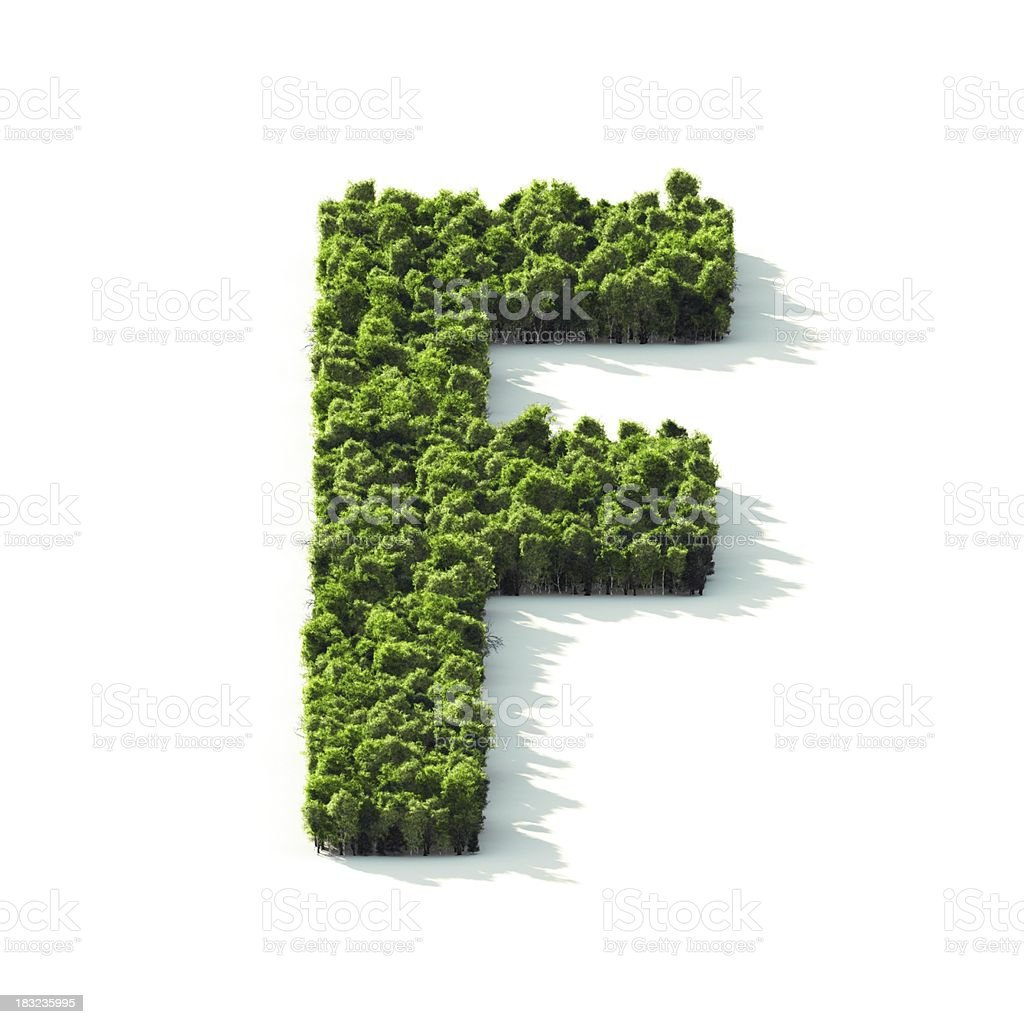 Letter F : Perspective View royalty-free stock photo