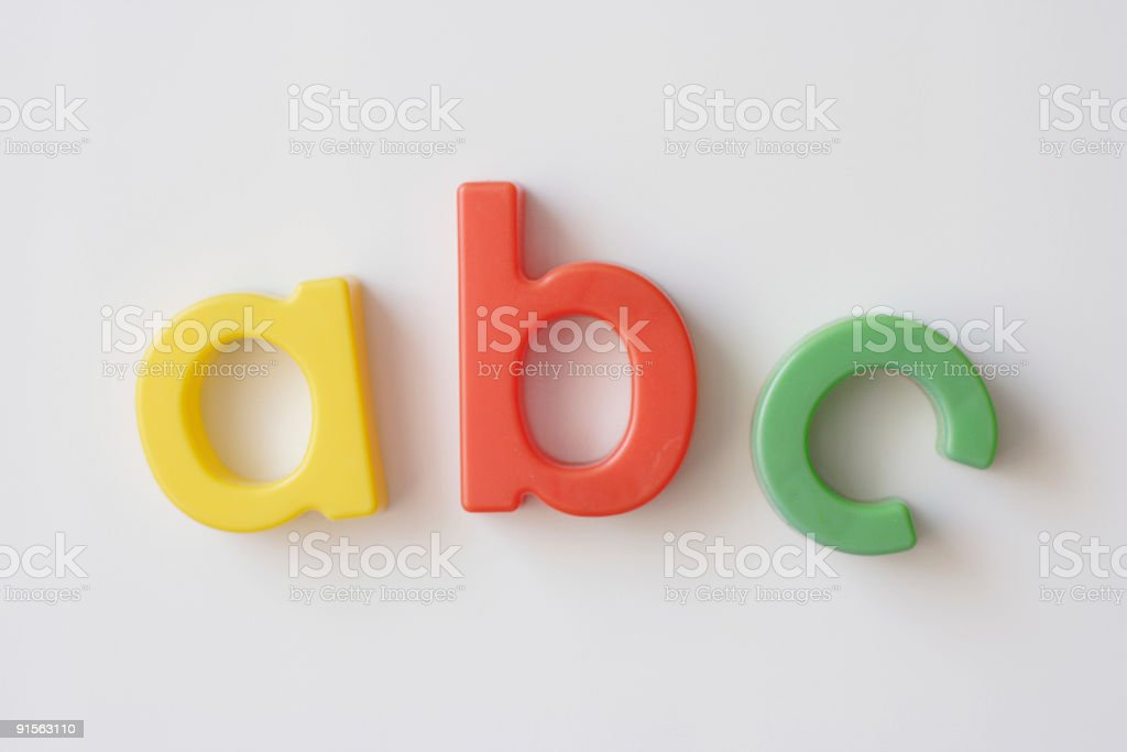 letter fridge magnets royalty-free stock photo