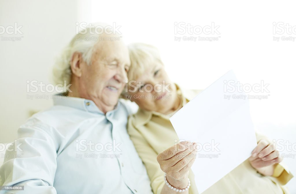 Letter from friends royalty-free stock photo