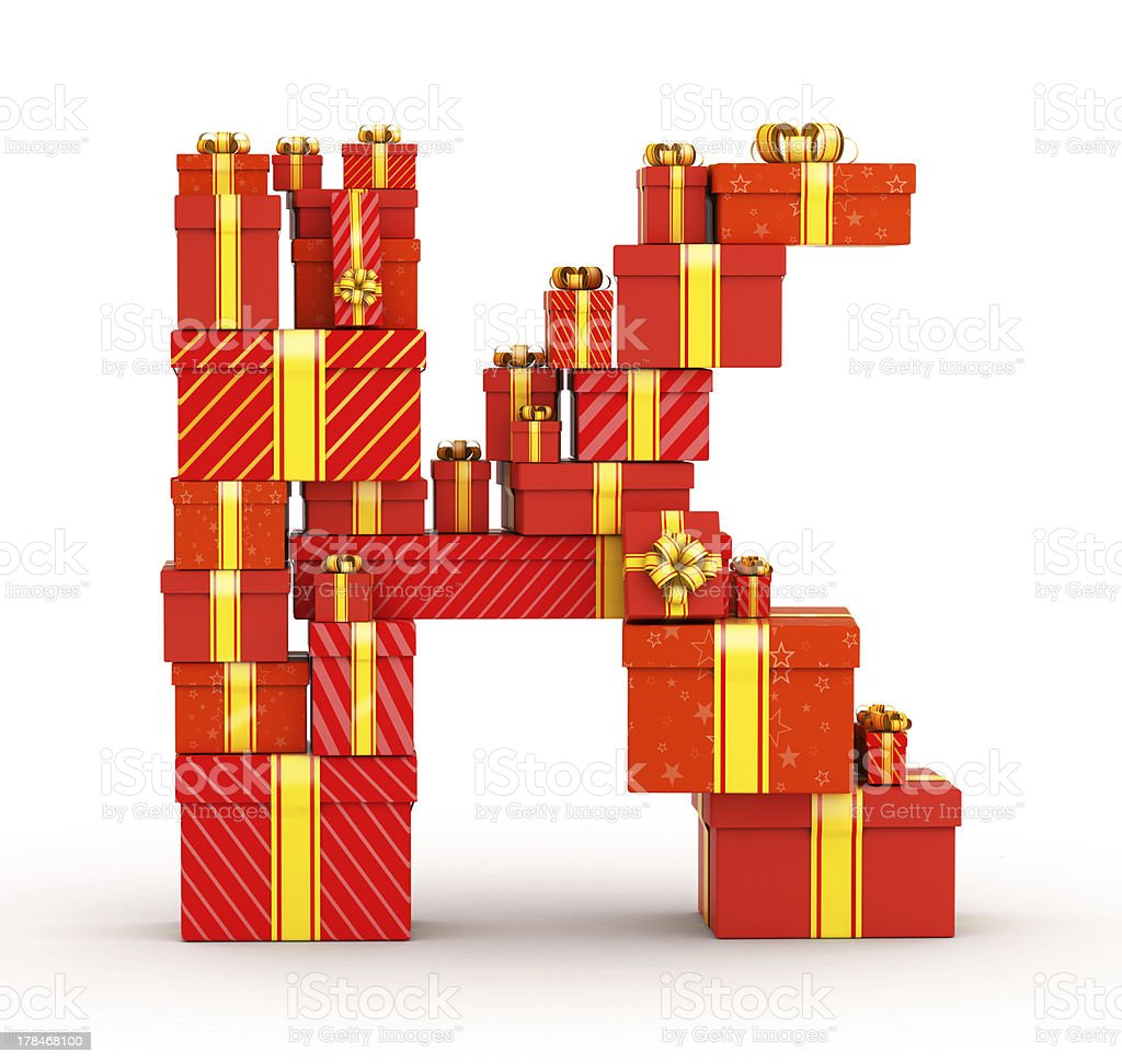 Letter from gifts royalty-free stock photo