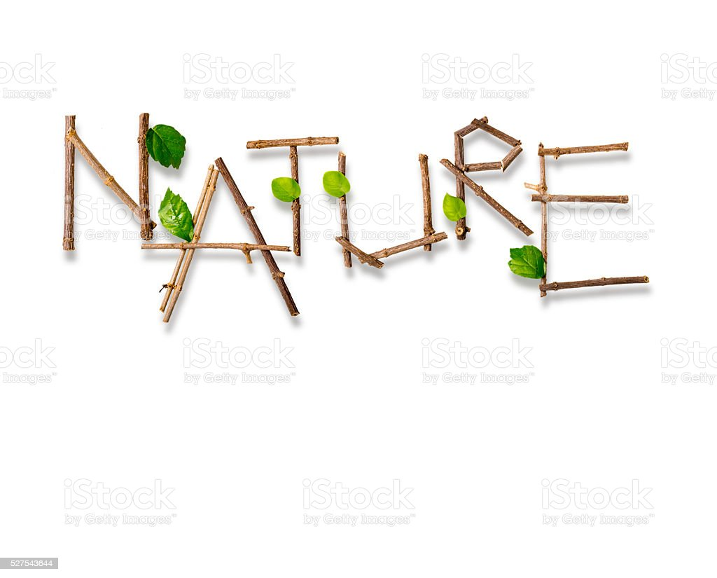 Letter from Nature stock photo